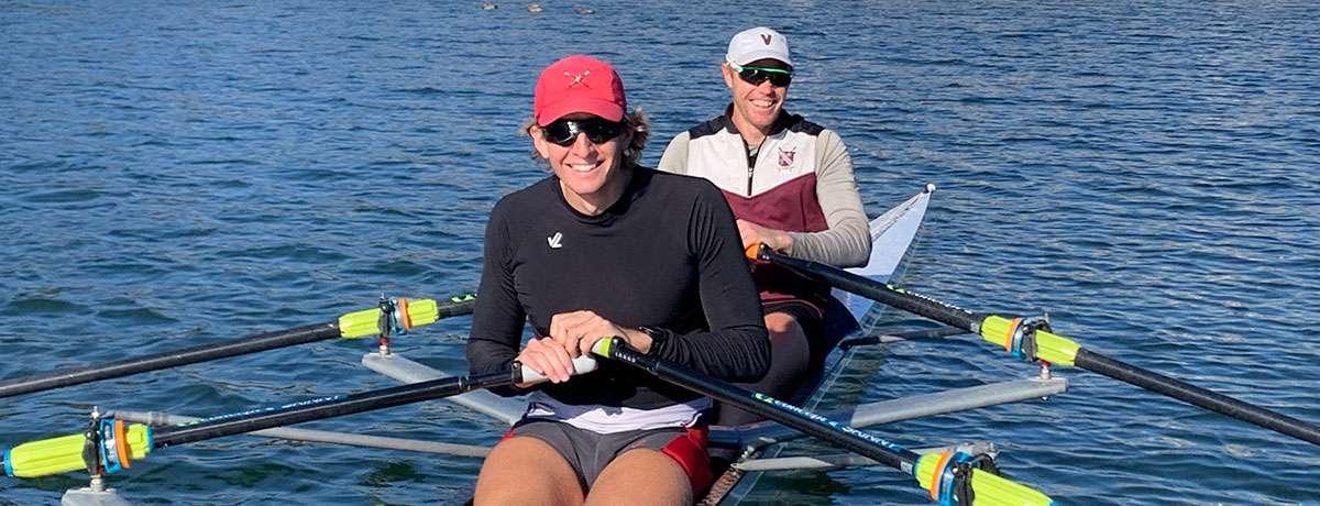 Kevin Cardno (stroke) & JP Kirkegaard (bow)